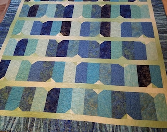 Blue Diamonds Large Lap Quilt