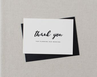 Thank you for Planning our Wedding - Card for Wedding Planner - Wedding Planner Card, Wedding Thank You Cards, Wedding Organizer Card, K8