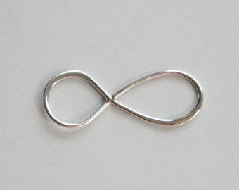 Sterling Silver, Gold Vermeil, Infinity Link, Inifinity Connector, Infinity Charm, Infinity Pendant, 11x30mm, Fast Shipping from USA