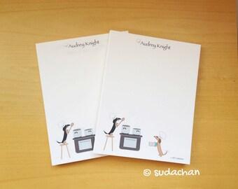 Dachshund Chefs Notepads (set of 2)