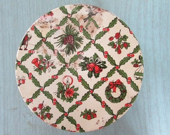 Christmas Tin Vintage Cookie Tin Holiday Decor
