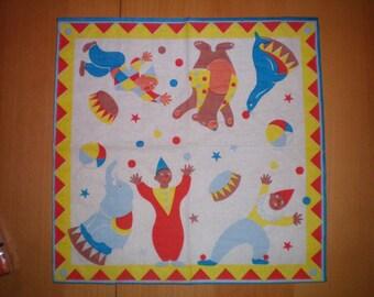 Tag - Acrobat circus Clown towel... 33 cms
