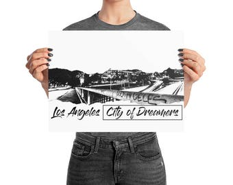 "Los Angeles City of Dreamers"" Poster"