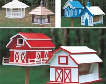 28 Birdhouses & Feeders Patterns on a 4 Gig Wooden USB Drive