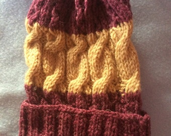Knitted Cable Beanie