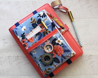 Rifle paper co planner pouch - cute floral pencil pouch - monthly planner - holiday gifts -  planner accessories - happy planner bag