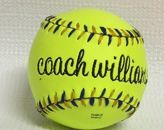 Embroidered Softball - Custom