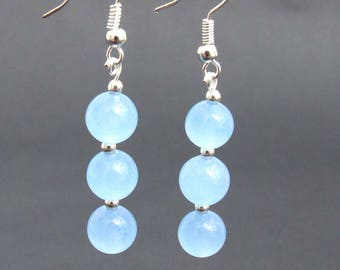 Aquamarine Bead earrings