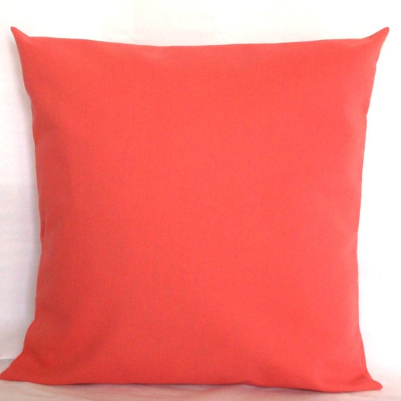 Coral Sofa Pillow: Items Similar To Coral Decorative Pillow Cover