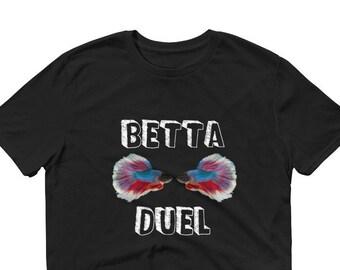 Aquarium Fish Tank Betta DuelShort-Sleeve T-Shirt