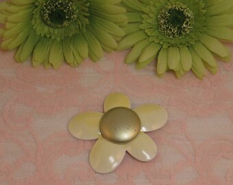 Beautiful Yellow and Gold Enamel Flower 1960's