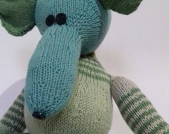 Teddy mouse, hand knitted toy