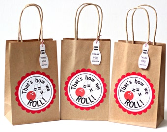 Bowling Party Favors  Bowling Party Bags  Bowling Goody Bags  Bowling Birthday Favor Bags  Birthday Bowling Goody Bags