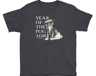 Chinese New Year Shirt - Chinese New Year 2018 Year of the Dog Shirt - Chinese Zodiac - Lunar New Year Shirt - Chinese Horoscope Pug Tee