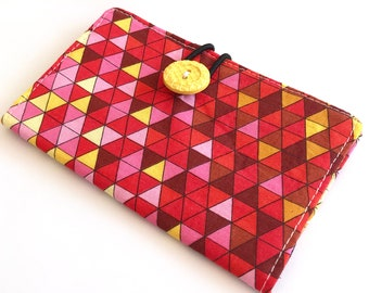 Fabric Card Holder - Geometric Triangles