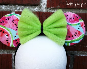 Juicy Summer Watermelon Minnie and Mickey Inspired Costume Mouse Ears