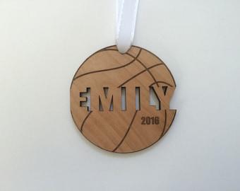 Basketball Ornament Basketball Boys Basketball Gifts Basketball Coach Gift Girls Engraved Ornament Personalized Custom Christmas Ornament