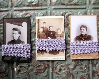 Tiny Rosebud Ribbon Yardage on Vintage Cabinet Photograph