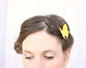 1 silk butterfly hair clip . your choice of butterflies . realistic gifts for birthday, wedding, bridesmaids, parties . costume . handmade