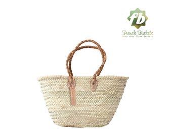 Le petit panier naturel, panier Français, marocain panier, sac en paille, français panier, sac de plage, sac en paille