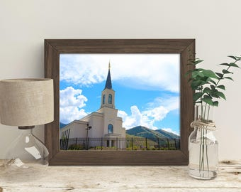 The Star Valley Wyoming LDS Temple // You get 5 sizes // Instant Digital Download