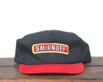 Vintage Trucker Hat Snapback Hat Baseball Cap Smirnoff Vodka Pure Thrill Liquor Alcohol Drinking