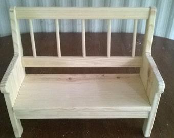 Handmade Bench for 18 inch Doll