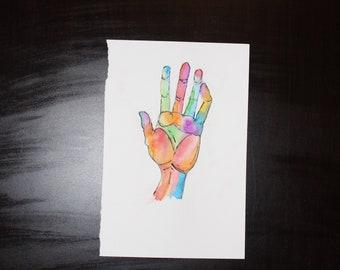 Watercolor Hand Print