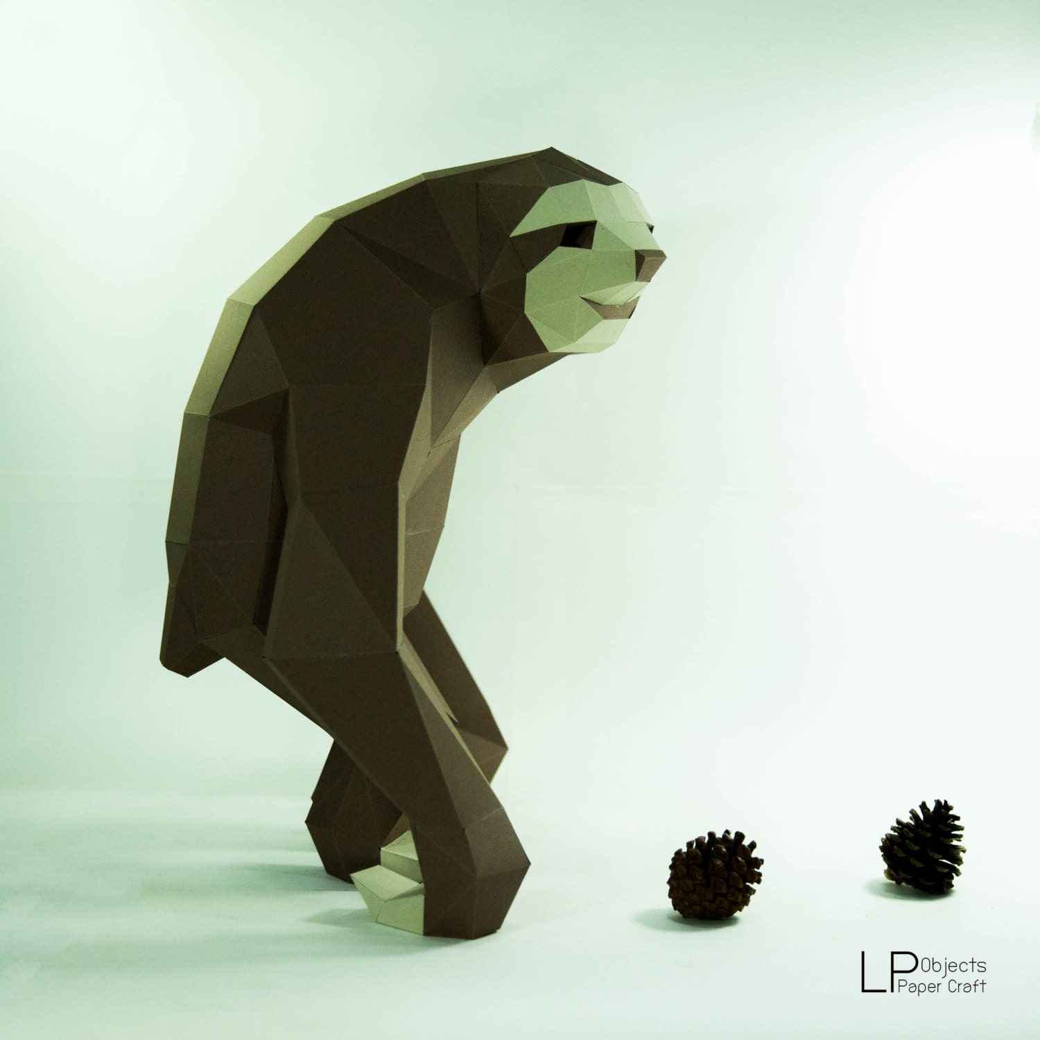Sloth model sloth paper sloth low poly 3d papercraft zoom jeuxipadfo Image collections