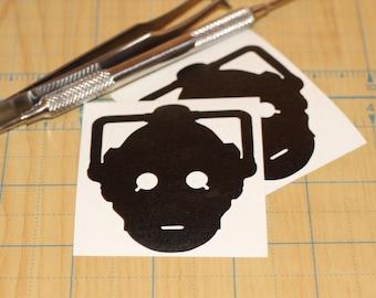 Dr. Who Cyberman Sticker | Doctor Who Cyberman Vinyl