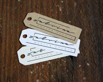 "100+  Custom  tags - 1.5""x 1"" Customized Small Price Tags Jewelry Hang Tags Labels"