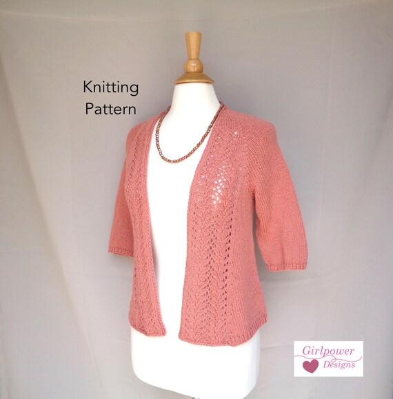 Open Front Cardigan Knitting Pattern Lace Front Raglan