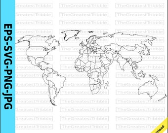 World map vector etsy world map world countries map eps svg png jpg vector graphic clip art outline world gumiabroncs Gallery