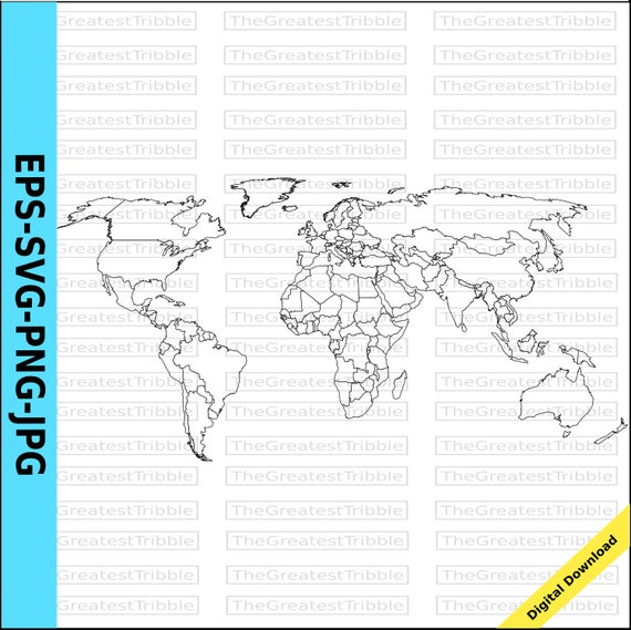 World map world countries map eps svg png jpg vector graphic clip world map world countries map eps svg png jpg vector graphic clip art outline world map outline countries map de thegreatesttribble en etsy studio gumiabroncs Gallery