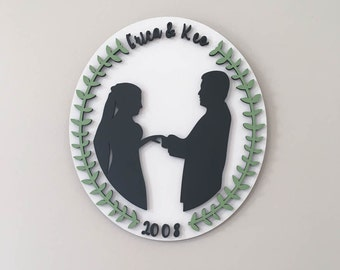 wedding couple silhouette wedding gift silhouette art new couple gift anniversary gift birthday