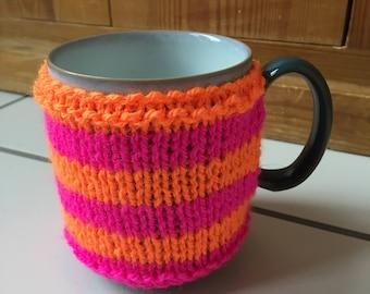 Cup cosy, cup cozy, knitted cup cosy, knitted cup cozy