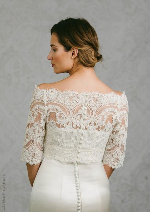 Plus Size Lace Bridal Topper Plus size Topper Lace Bridal