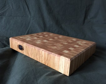 Handmade Oak end grain Butchers Block, cutting board