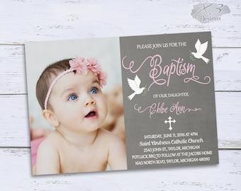 Baptism Invitation Girl Baptism Invitations Christening