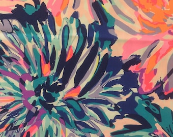 """off tropic dobby cotton fabric square 18""""x18"""" ~ lilly fall 2017 ~ lilly pulitzer"""