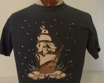 "Mens Grateful Dead shirt. Grateful Dead shirt. ""Lost Sailor"" shirt. Grateful Dead lot shirt."