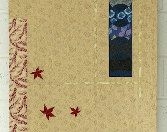 Japanese inspired wall hanging art quilt, Tokonoma Alcove, Art wall hanging, Art quilt,