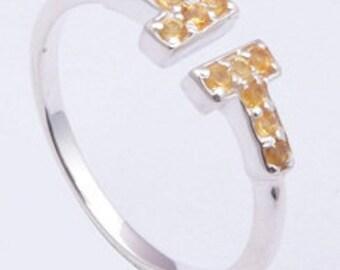 925 sterling silver ring,Handmade ring,Citrine ring,gemstone ring,silver ring