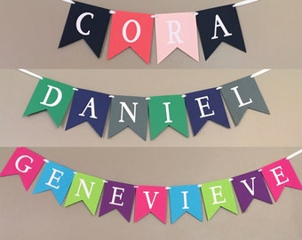 Personalized Name Banner, Custom Name Banner, Baby Name Banner, Photo Prop Banner, Name Sign, Baby Sign