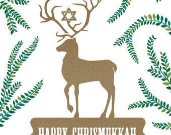 Happy Chrismukkah (Interfaith Holiday Card)