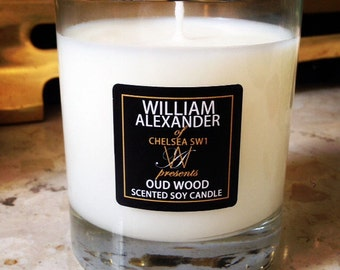 William Alexander Soy Candle Lime Basil Mandarin OR Oud Wood Similar to Jo Malone