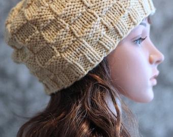 Knitting PATTERNS - Slouchy Hat Pattern - Knit Beanie - Mens Hat Pattern - Knit Hat Patterns - Newborn, Baby, Toddler, Adult Sizes - PDF 355