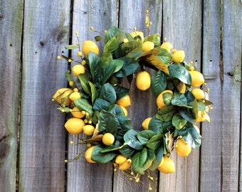 Yellow Lemon wreath ,  Lemon Wreath ,Yellow wreath,   berry wreath ,Lemon wreath