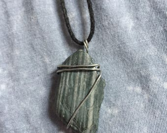 Handmade, Jewelry, Wire Wrapped, Necklace, Stone, Boho, Accesory, Natural