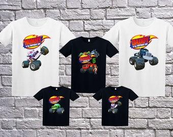 Blaze And The Monster Machines, Blaze Birthday T-Shirt, Blaze Name Age, Custom Blaze Shirt, Personalized Blaze Apparel, Blaze Birthday Party